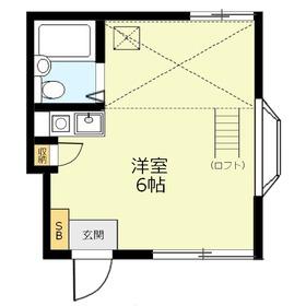 ブランメゾン上福岡1階Fの間取り画像