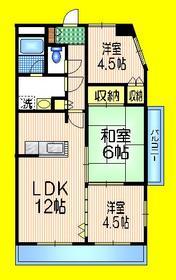 稲城長沼駅 徒歩13分4階Fの間取り画像