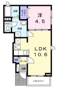 アレグリアⅡ1階Fの間取り画像