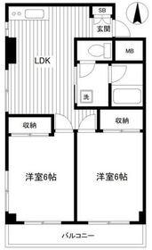 栄広クリアシティ第23階Fの間取り画像