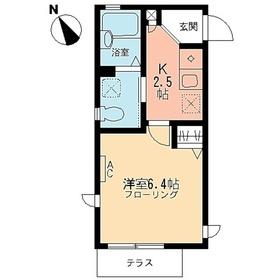 ヒルトップ2階Fの間取り画像