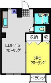 日吉駅 徒歩12分2階Fの間取り画像