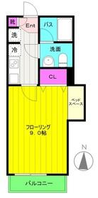 ベル・コッレ5階Fの間取り画像