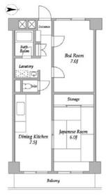 砧サンライズマンション3階Fの間取り画像