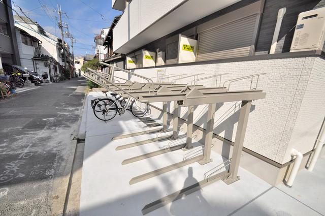 ノイヴェル小若江 あなたの大事な自転車も安心してとめることができますね。