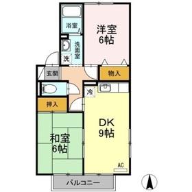 セジュール西屋 A2階Fの間取り画像