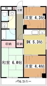 プロスパートウマ2階Fの間取り画像