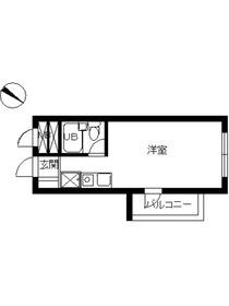スカイコート西横浜64階Fの間取り画像