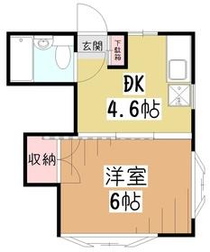 フタバハイツ2階Fの間取り画像