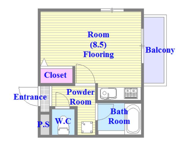 グランドール永和 バストイレがセパレート、独立洗面所のある使い易い間取りです。