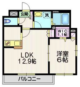 ラフィーネⅡ2階Fの間取り画像