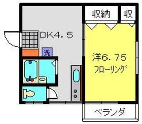ハイツふくみⅡ2階Fの間取り画像