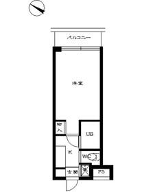スカイコート学芸大学壱番館3階Fの間取り画像