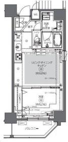 ZOOM日本橋馬喰町8階Fの間取り画像
