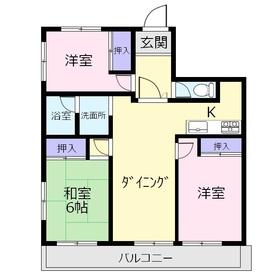 C-クレフ4階Fの間取り画像