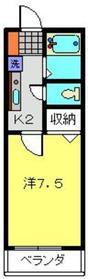 ベル・エキップ常盤台1階Fの間取り画像