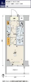 スカイコート品川パークサイドⅡ6階Fの間取り画像