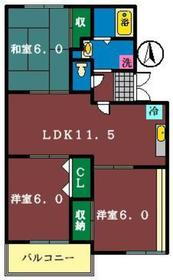 KS.グランメール汐見台1階Fの間取り画像