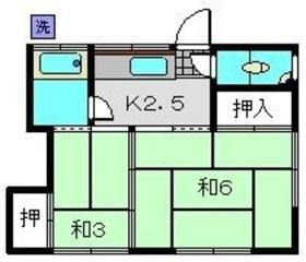 関水荘2階Fの間取り画像