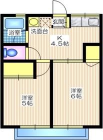 シティハイム AIZAWA D1階Fの間取り画像