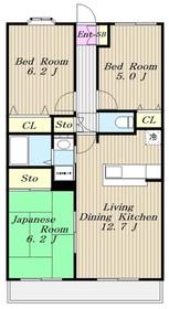 百合ヶ丘駅 徒歩10分3階Fの間取り画像