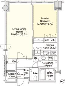 ラ・トゥール三田32階Fの間取り画像