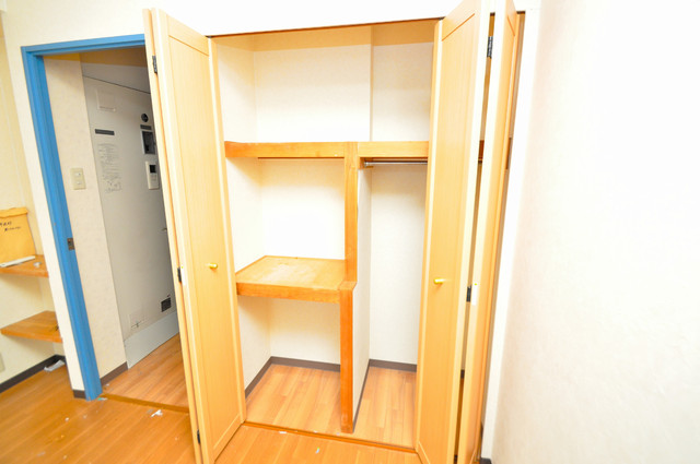スパジオビィータ 各部屋に収納があるので、お荷物が多い方も安心ですね。