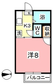 メゾンフレール1階Fの間取り画像
