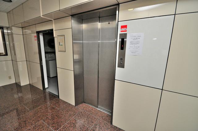 女性うけの良さそうなエレベーターホール。綺麗に清掃されていて清潔感もありますね。