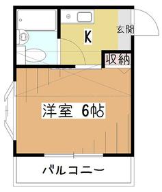 クリスタルハイツVI2階Fの間取り画像