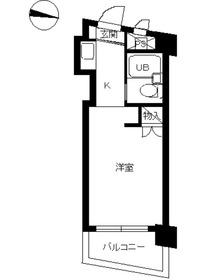 スカイコート西川口第26階Fの間取り画像
