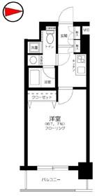 プレール・ドゥーク京橋10階Fの間取り画像