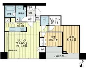 シティタワー新宿新都心25階Fの間取り画像