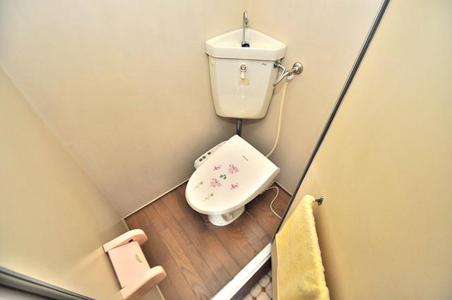 第二コーポ春日荘 清潔感たっぷりのトイレです。入るとホッとする、そんな空間。