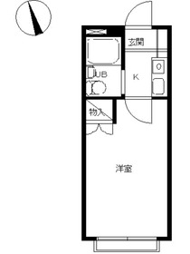 スカイピア西横浜1階Fの間取り画像
