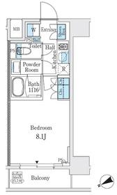 リビオメゾン御茶ノ水6階Fの間取り画像
