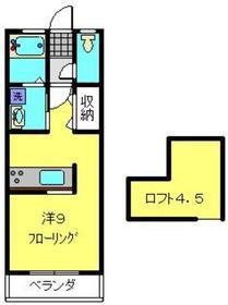 ダイユー6番館4階Fの間取り画像
