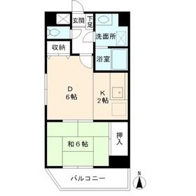 エス・ワンマンション3階Fの間取り画像