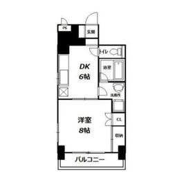 若竹ハイツ5階Fの間取り画像