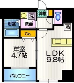 六本木レジデンス2階Fの間取り画像