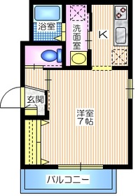 コンフォートハイム2階Fの間取り画像