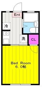 矢野口駅 徒歩12分2階Fの間取り画像