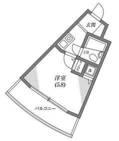 スカイアーク生田3階Fの間取り画像