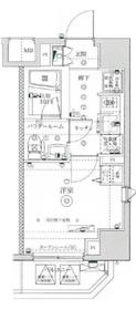 イアース横濱関内8階Fの間取り画像