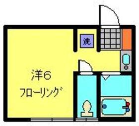 サザン宝蔵院A1階Fの間取り画像