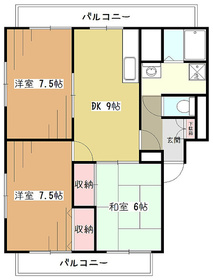 ラフィーネ・オーニシ2階Fの間取り画像
