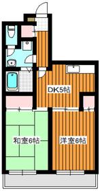 メゾンボヌール3階Fの間取り画像