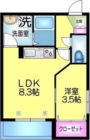 仮称 江東橋2丁目メゾン3階Fの間取り画像