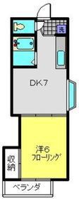 ヴィラフジタナ2階Fの間取り画像