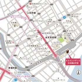 KDXレジデンス日本橋水天宮案内図